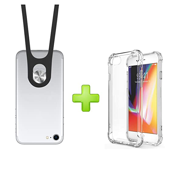 purchase cheap f4831 3b04f E-tech Universal Cell Phone Lanyard, Silicone Neck Strap Smartphone Case  Holder, Detachable Cell Phone Necklace for iPhone 6 7 8 6s Plus X XS XR ...