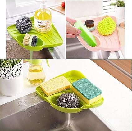 Delicieux Kitchen Sink Corner Storage Rack Holder For Sponge, WOPS Caddy Sponge Holder  Rack Wall Mounted