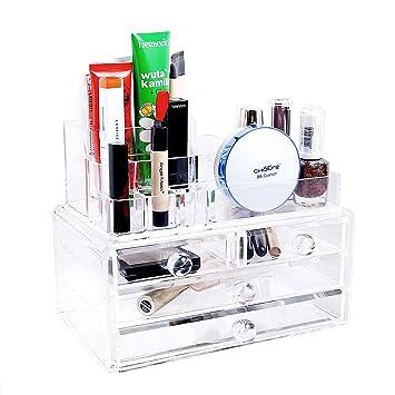 Amazoncom Ohuhu Acrylic Makeup Organizer Jewelry Cosmetic Storage