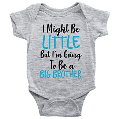 3078a1643 Amazon.com: I Might Be Little But I'm Going to Be A Big Brother One ...