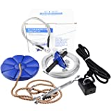 Family Backyard toys 29m Zip Line Kit with Brake and Seat, Zip Line Cable Trolley Pulley to Bring Colorful Fun and Enjoyment with the MOST Complete Accessories zipline, Strop, Swing For Kids and Adult(less then 113 kg)