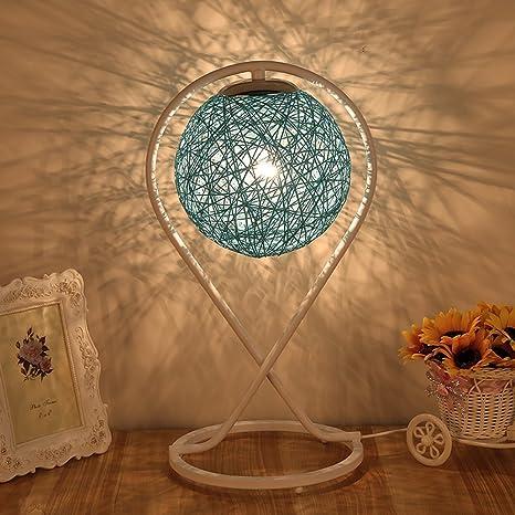 HM&DX Mesa de noche mesa lámpara rota,Decorativas lámparas ...