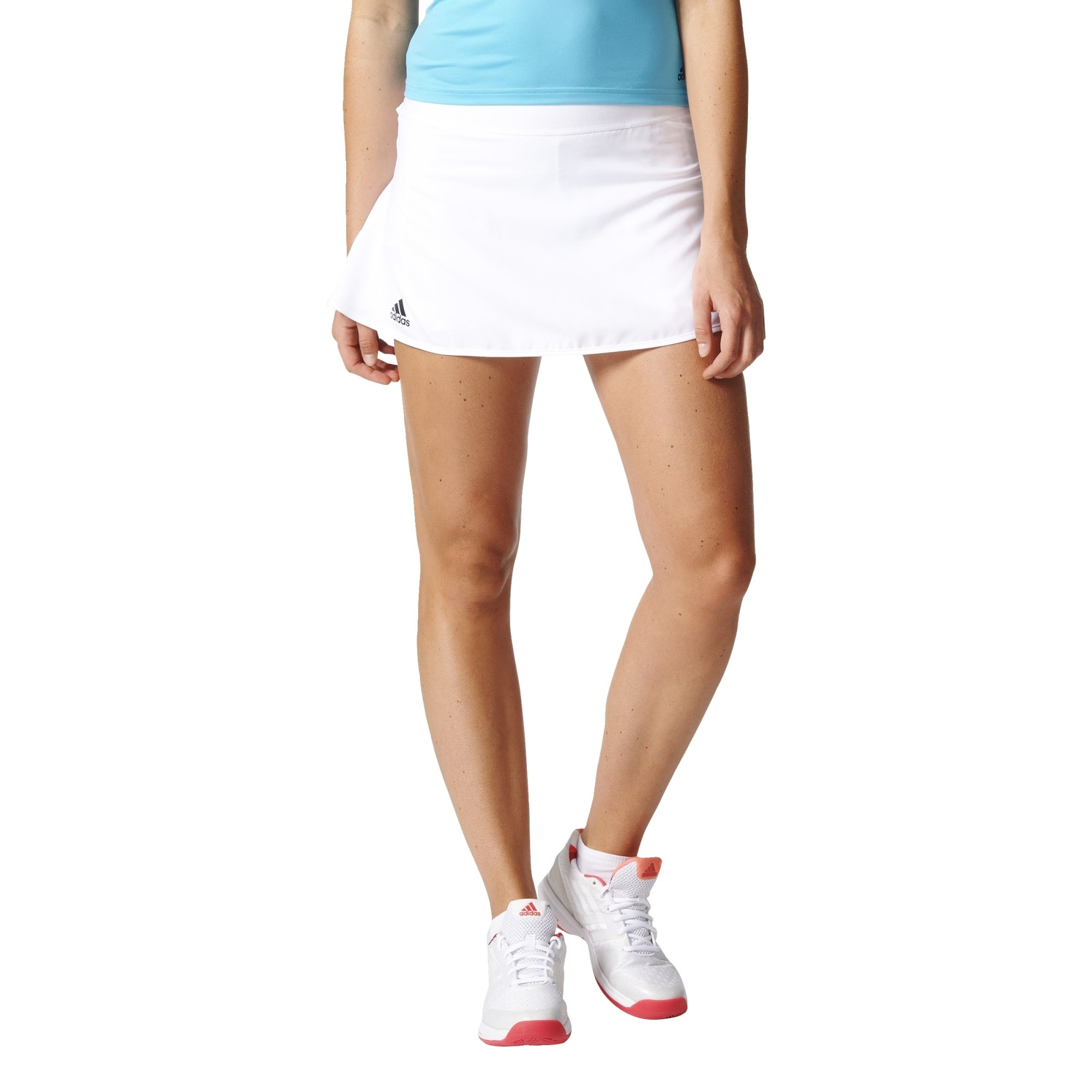 adidas Women's Tennis Club Skirt, White, Large