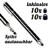 5pezzi Premium pennino touch penna Stylus Pen per iPhone 77s 66s 56s 44S, iPad Mini Air, Samsung Galaxy Huawei P7P8P9e tutti i Tablet Smartphone, colore: nero oro blu verde arancione