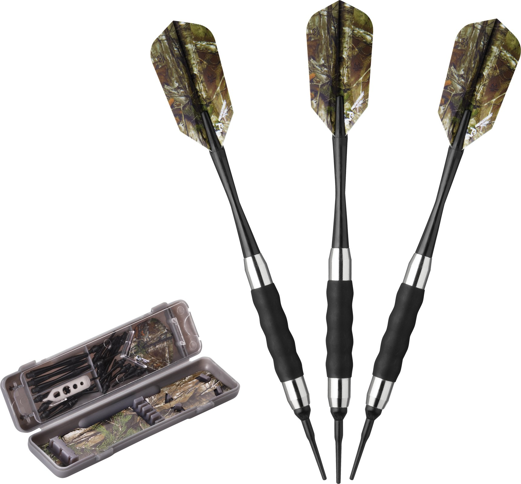 Fat Cat Realtree Hardwoods HD Camo Soft Tip Darts with Storage/Travel Case, 16 Grams by Fat Cat by GLD Products