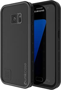 Punkcase S7 Waterproof Case [StudStar Series] [Slim Fit] [IP68 Certified] [Shockproof] [Dirtproof] [Snowproof] Armor Cover Compatible W/Samsung Galaxy S7 [Black]