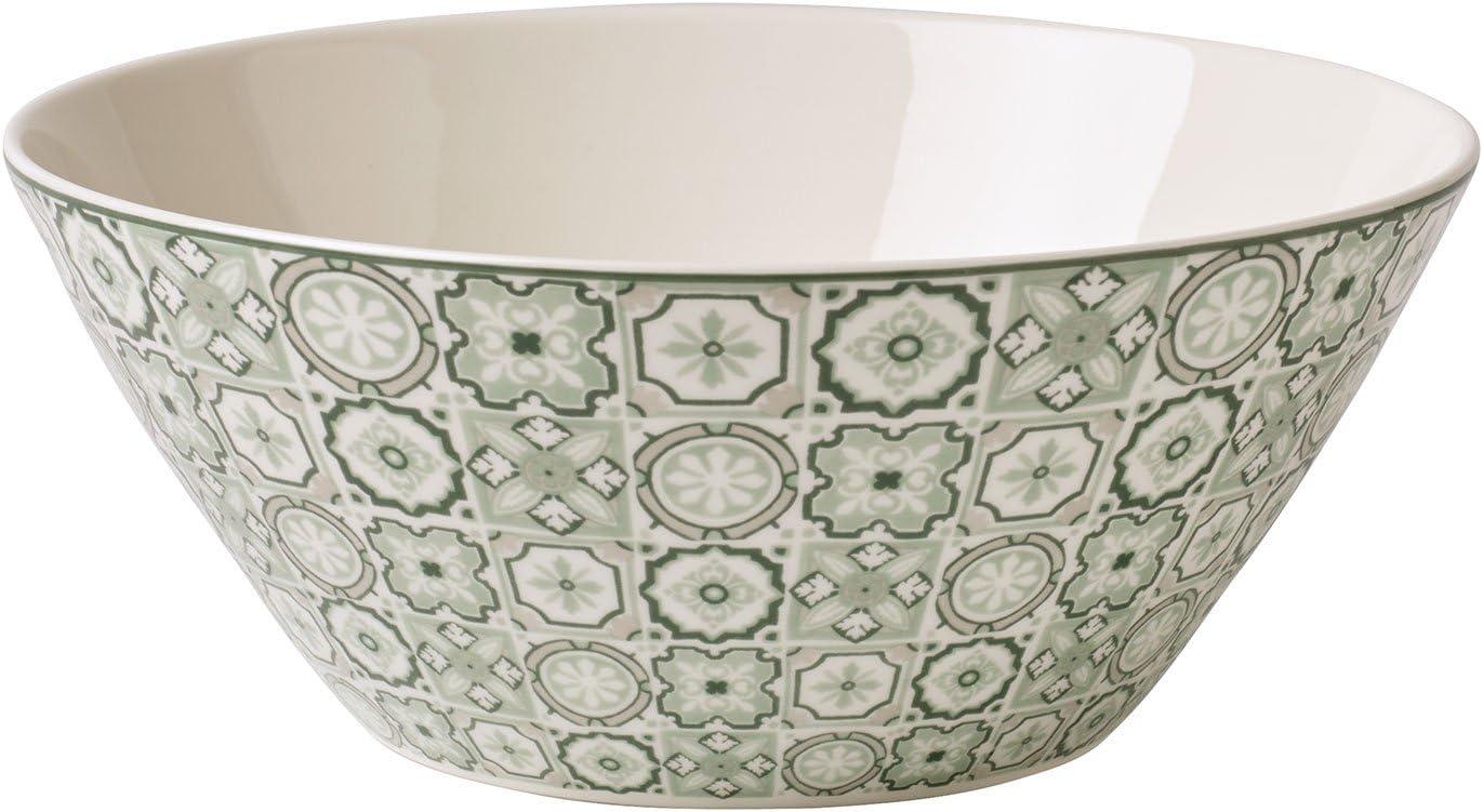 High-Quality Villeroy /& Boch Modern Dining Indigo Caro Bowl Premium Porcelain Large 1.2 White//Colourful 1.1 Litre