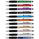 500 Promotional Retractable Ballpoint Pens Promotion Pros Customize With Your Logo Only $0.32 Each Blue Black Ink/- Zling Model