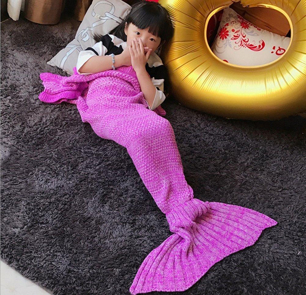 Kids Pink Mermaid Tail Blanket Soft All Seasons for Kids,Sofa Quilt Living Room Super Sleeping Bags SYNCHKG113503 FYHAP Mermaid Blanket