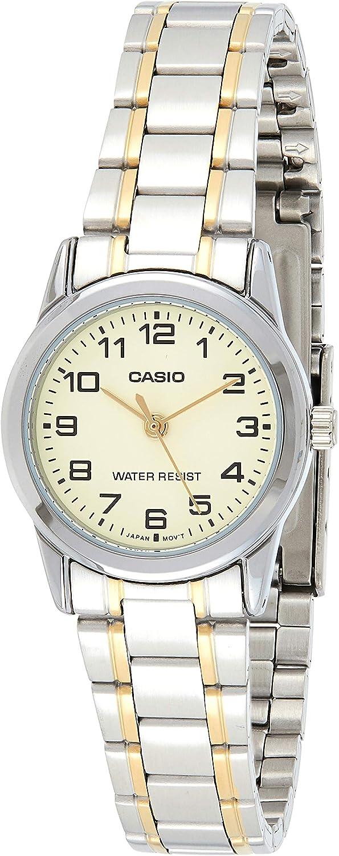 Casio Women's LTPV001SG-9B Silver Stainless-Steel Quartz Watch