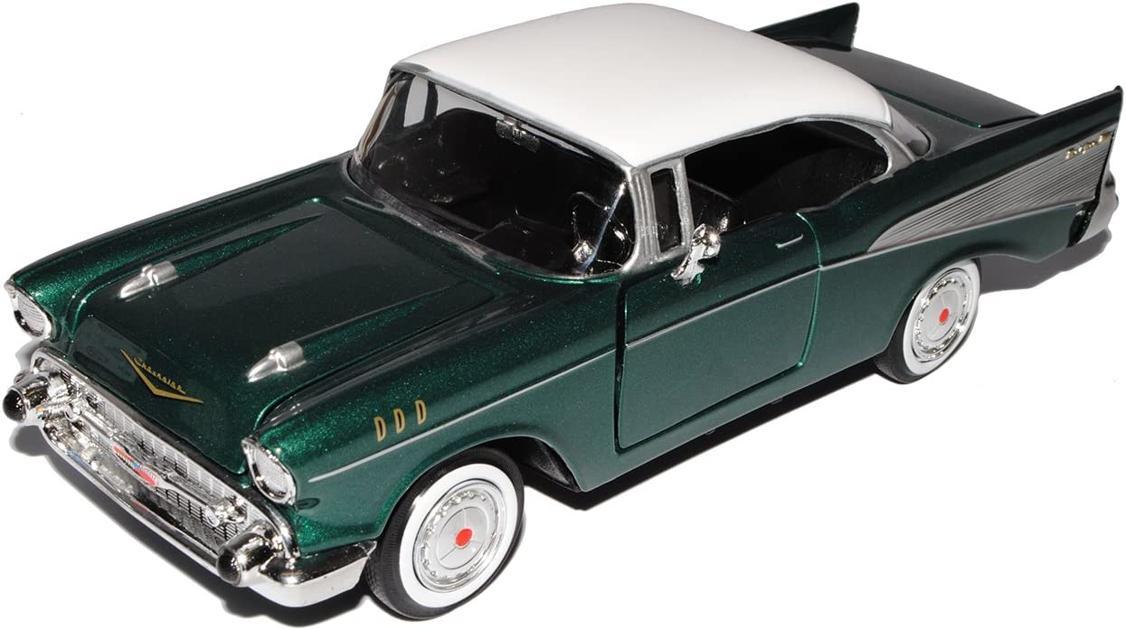 Collection 711 Mm73228gr Ohne Chevrolet Chevy Bel Air 1957 Grün Coupe Oldtimer 1 24 Motormax Modellauto Modell Auto Spielzeug