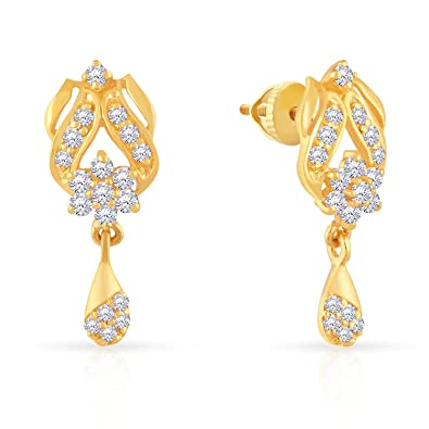8186cb0da Buy Malabar Gold and Diamonds 22k (916) Yellow Gold Stud Earrings Online at  Low Prices in India | Amazon Jewellery Store - Amazon.in