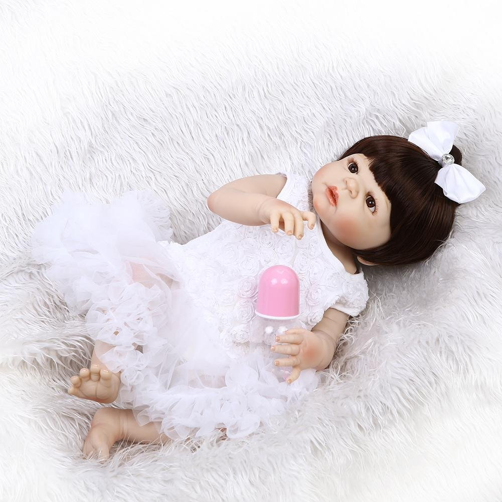 chinatera NPK Simulation Artificial Waterproof Soft Silicone Reborn Baby Dolls Lifelike Infants Girl Doll Toys Photographic Prop by chinatera (Image #4)