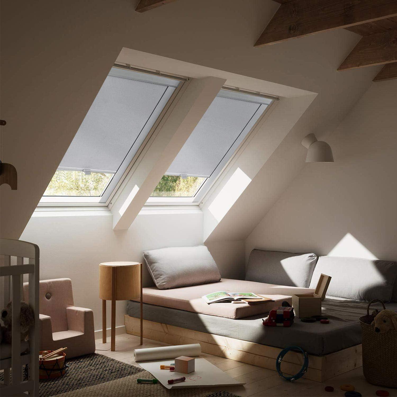 Tenda avvolgibile oscurante Velux con protezione dal calore per finestre del tetto KINLO Grigio F06