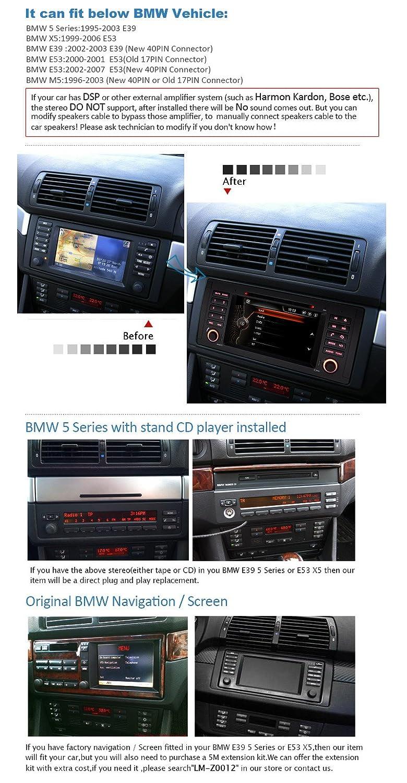 Pumpkin Sat Nav for BMW 5 Series/X5/E39/E53/M5 Wince 7 inch In Dash Single  Din Car DVD Player GPS Navigation support SD/USB/iPod/FM/AM