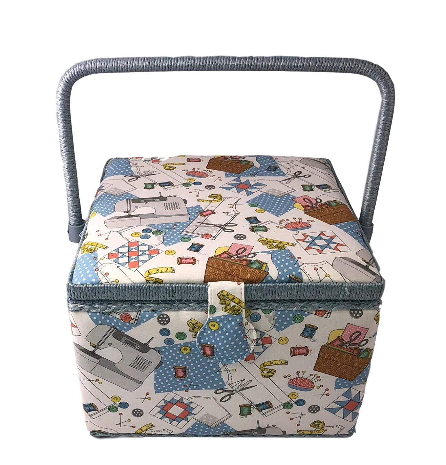Large Square Dritz Sewing Basket Box for Storage Sewing101