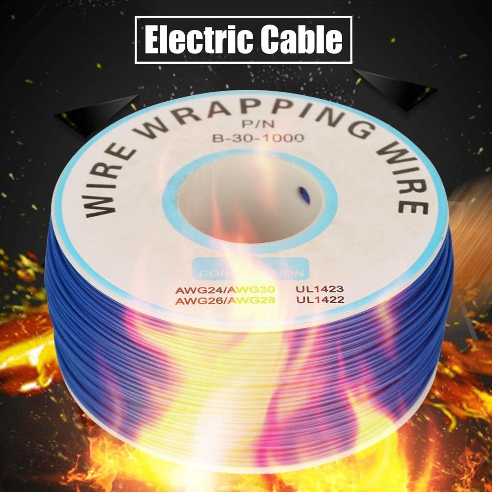 Single Copper Wire Strand 1Roll 30AWG Cable 0.25mm Wire-Wrapping Single Copper Wire Strand Core Diameter 5#