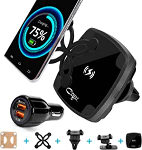 Cegar Magnetic Wireless Car Charger,10W QI Car Charging Mount, Air Vent Phone Holder, Wireless Charging for Phone 11/11 Pro/11 Max/Xs/XS Max, Samsung Galaxy S10/S10 Plus/S9/S9 and All QI-Enabled Devic