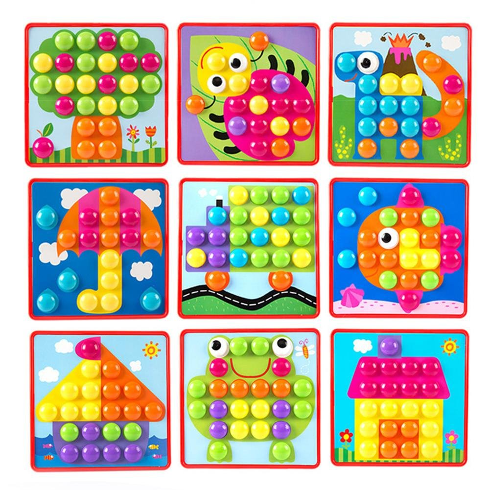 Chinatera Kids 3D Puzzles Creative Buttons Assembling Educational Toy