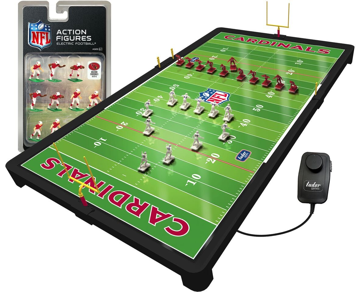 9cf9527f Amazon.com: Arizona Cardinals NFL Deluxe Electric Football Game ...