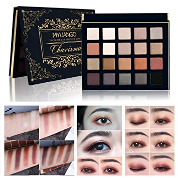 Amazon.com : MYUANGO Eye Makeup Palettes Eyeshadow 20 Colors Shimmer Ultra Pigmented Eyeshadow Smokey Eyes Party Make up Cosmetic : Beauty