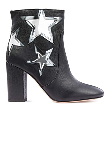 d080d73d5c299d Pinko Silver Stars Diurno Black Woman Bootie Fall Winter 2017 Pinko Shoes  Collection
