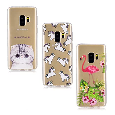 V-Ted Compatible with Samsung Galaxy A8 2018 Case Clear Cover Banana Pattern Design TPU Silicone/Gel Ultra Slim Transparent