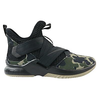 promo code eef84 dbef0 Nike Herren Lebron Soldier XII SFG Schwarz Mesh Synthetik Basketballschuhe