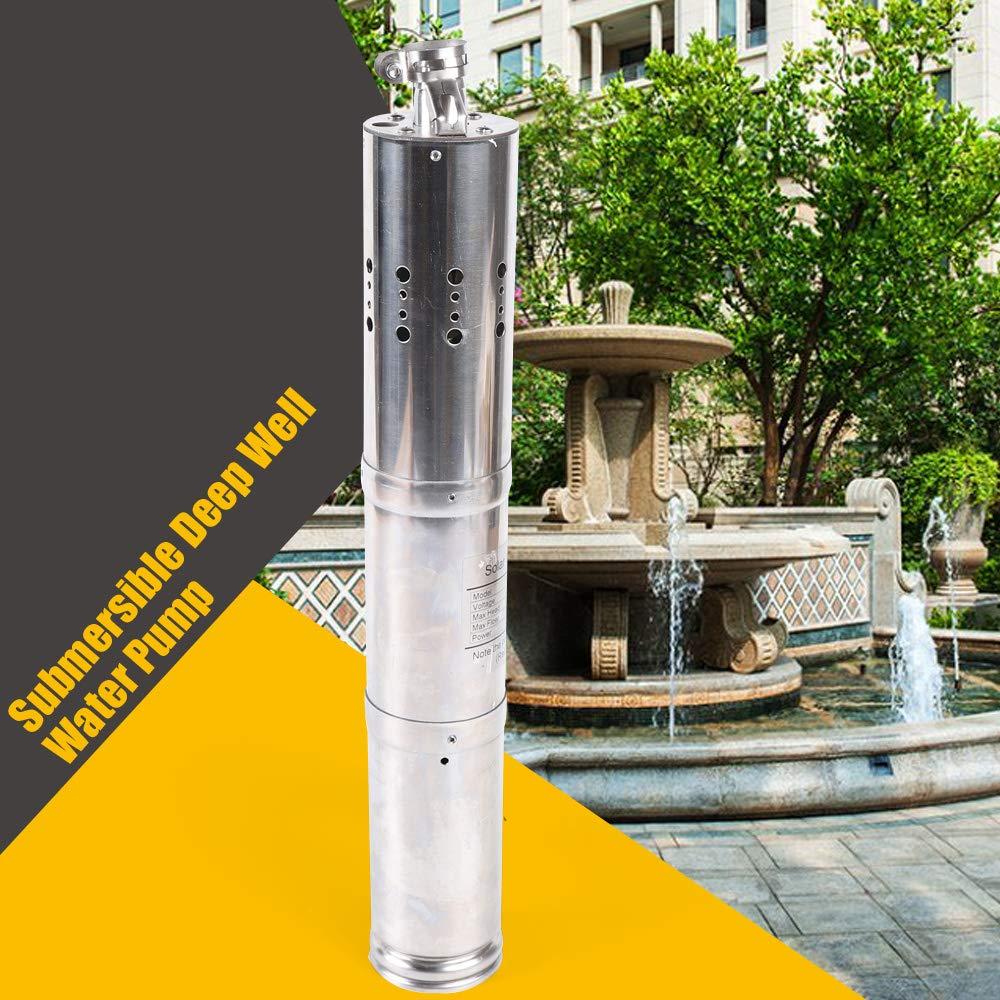 370W 24V DC Brushless Solar Tiefbrunnen Tauchpumpe Wasserpumpe 2m3//H DE