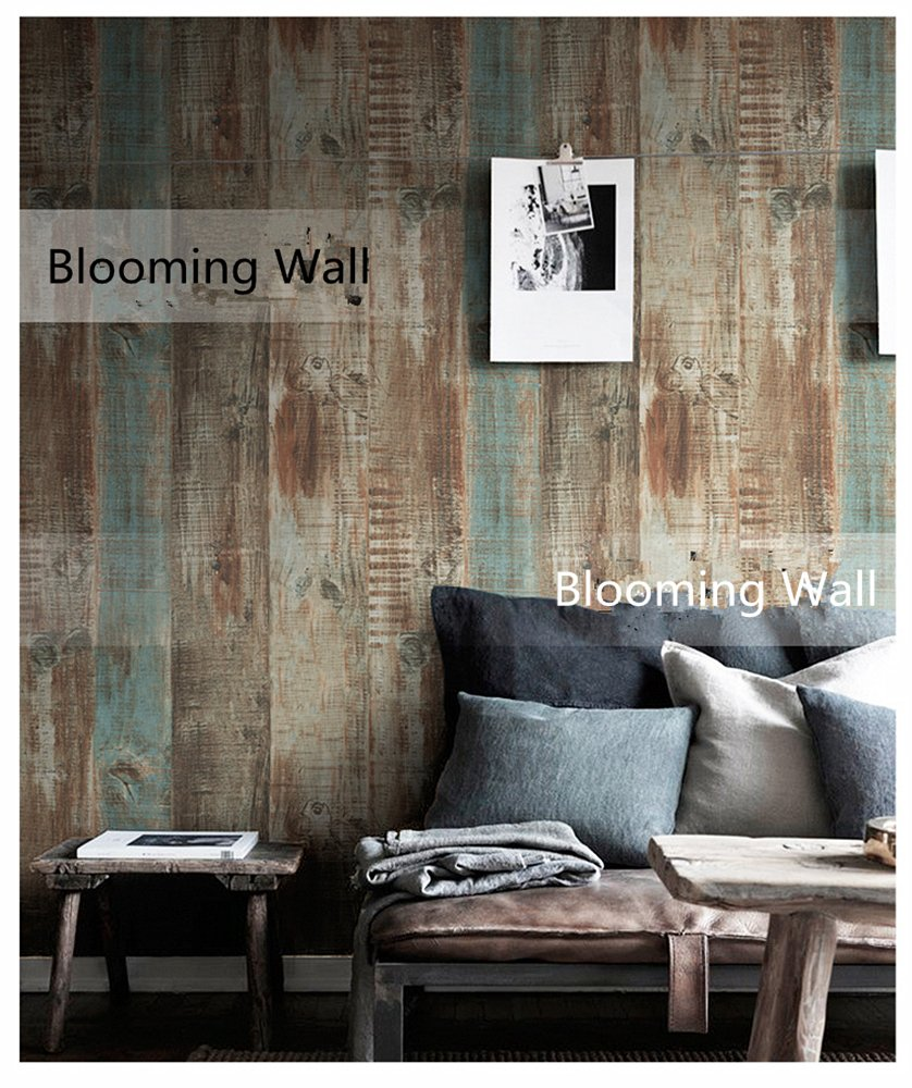 blooming wall vintage wood panel wood plank wallpaper rolls wall blooming wall vintage wood panel wood plank wallpaper rolls wall paper wall mural for livingroom bedroom kitchen bathroom 20 8 in32 8 ft 57 sq ft