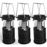 Amazon Price History for:Portable LED Camping Lantern, Lemontec water resistant Ultra Bright 30 LED Lantern for Hiking, Emergencies, Hurricanes, Outages, Storms, Camping (3 AA Batteries), 3 Pack