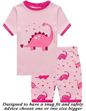 fc8d51706 Amazon.com  Dolphin Fish Little Girls Cotton Short Pajamas Summer ...