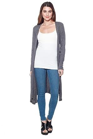 Long Cardigan Wwaist Womens Knit Sweater d Ribbed Top Tie A zVSpUqM