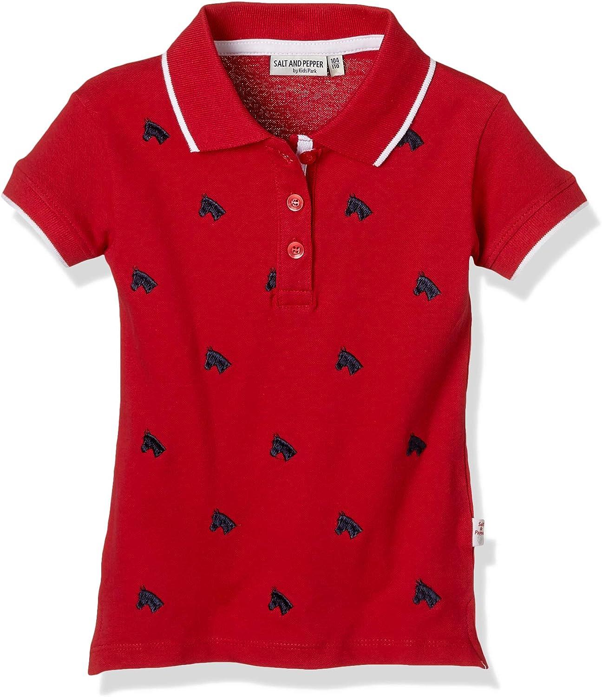 128 cm-134 cm Bambina Salt And Pepper 03112268 Polo Lollipop Red 344 Rosso