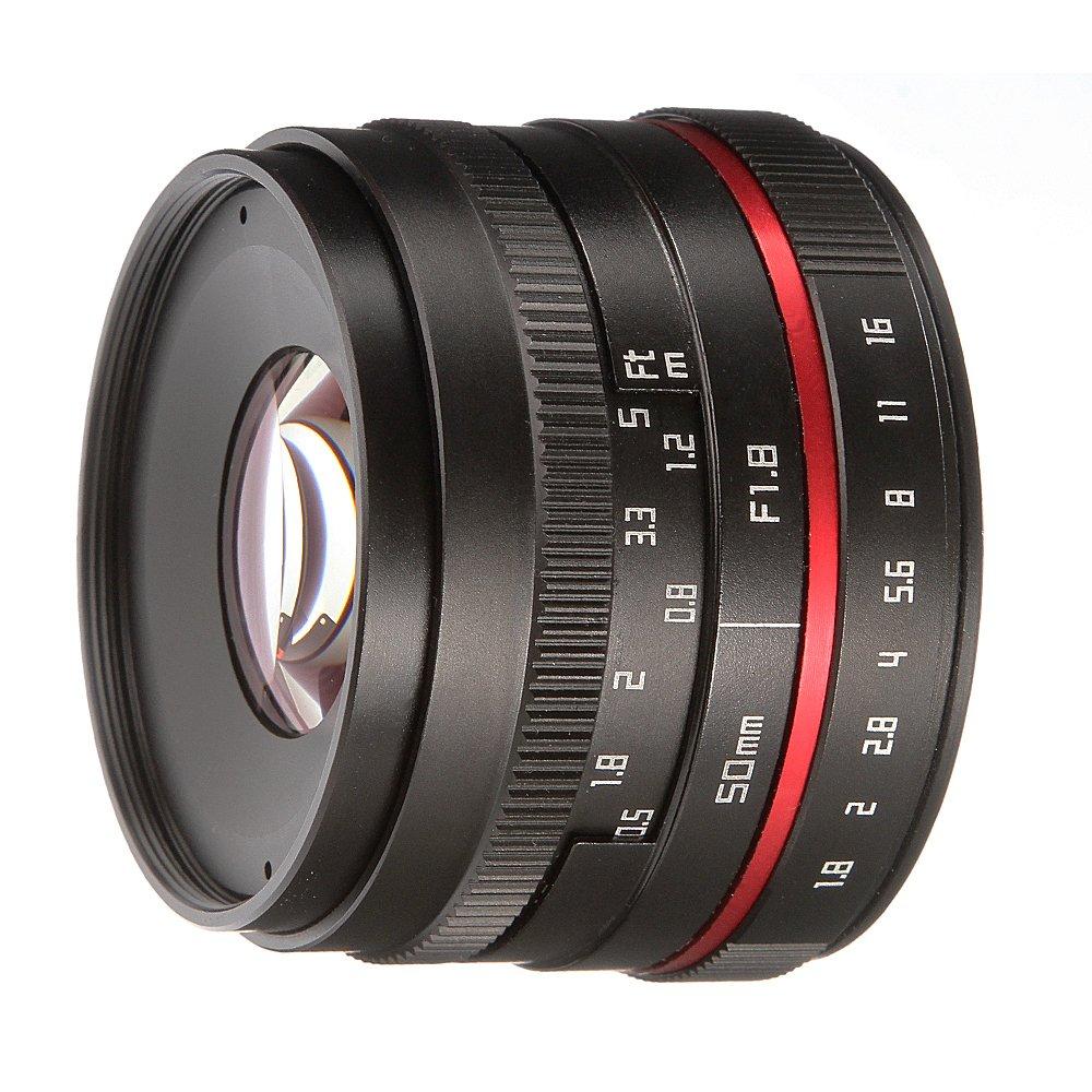 Fotga 50 mm f / 1.8マニュアルフォーカスMF Primeレンズfor Canon EOS EF - MマウントM m2 m3 m5 m6 m10 m50 m100 DSLRカメラ   B07CKL4JY2