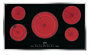 """36"""" Electric Cooktop including Stainless Steel Frame"""