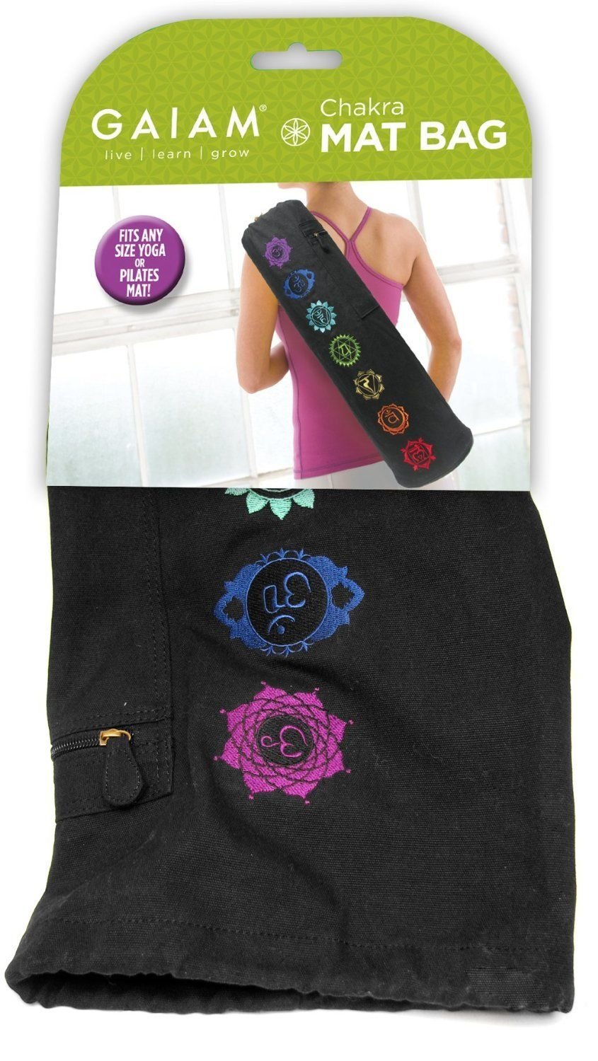 Generic NV_1008002758_YC-US2 ppinged Bag, New, t Bag Chakra Embroidered , Fre Free pping Yoga Mat Shipping Chakra