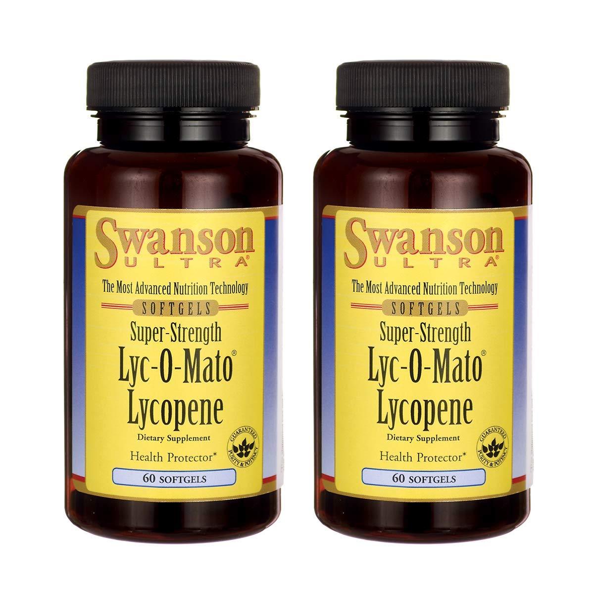 Swanson Super-Strength LYC-O-Mato Lycopene 40 Milligrams 60 Sgels (2 Pack)