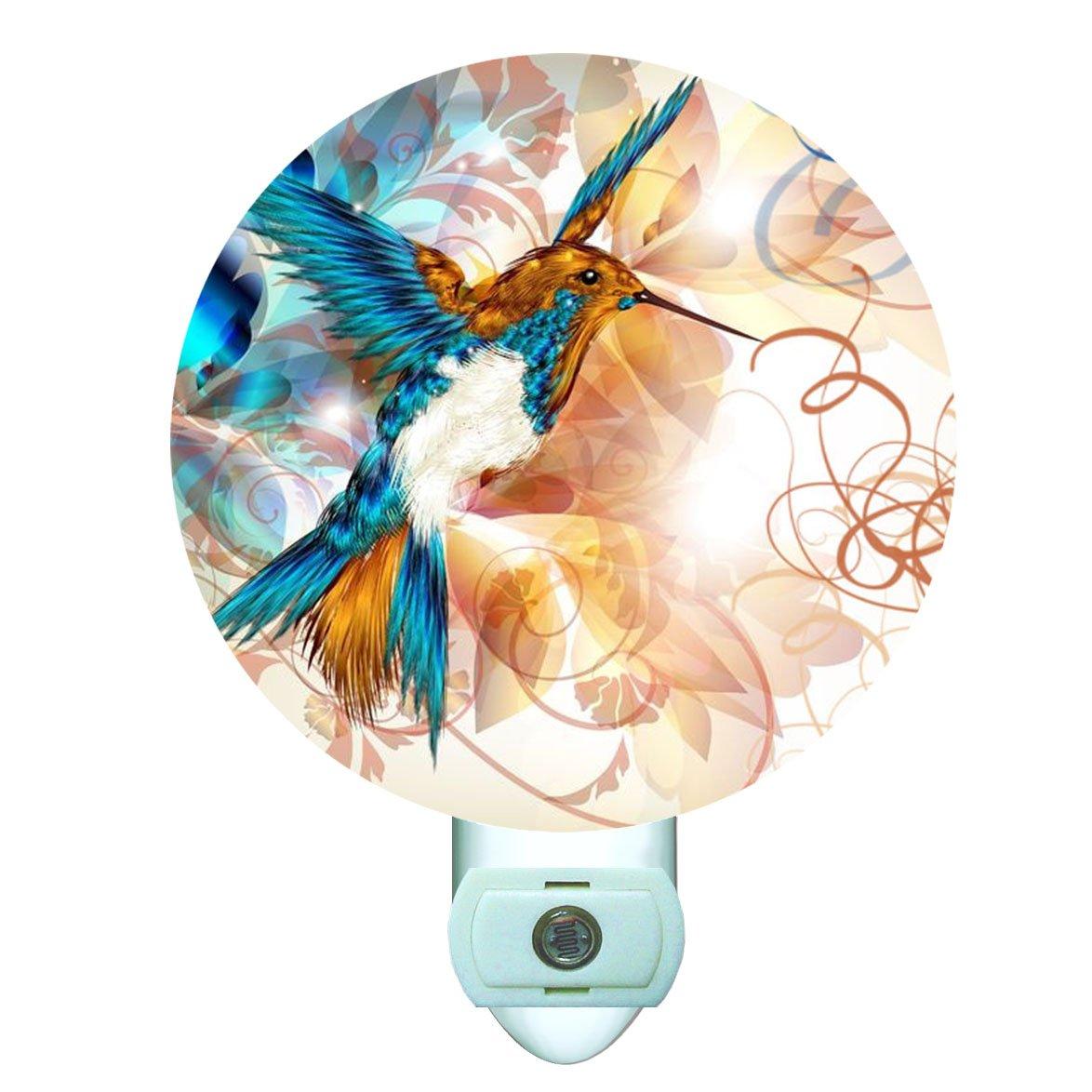 Abstract Hummingbird Decorative Round Night Light by Gotham Decor (Image #1)