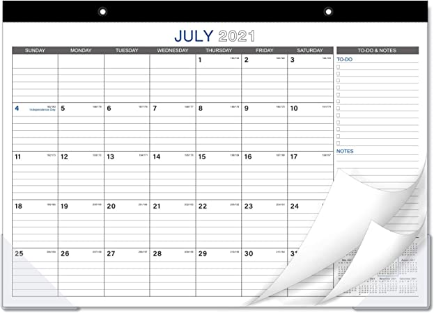 June 2022 Inspirational Script Large Desk Pad Monthly Calendar July 2021