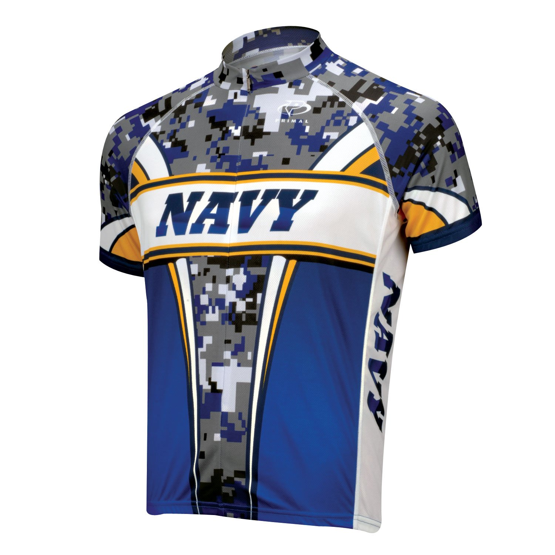 Amazon.com   Primal Wear Navy Camo Cycling Jersey Men s Short Sleeve USN    Sports   Outdoors d1ea16f07
