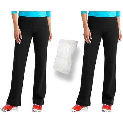 1372dffc89b30 Danskin Now Womens Dri More Bootcut Pants 2 Pack (Black) w/Sports Towel