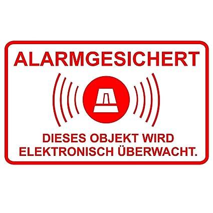 5 pcs pegatinas de alarma, alerta al, 16,7 x 10 cm Art, 076 ...