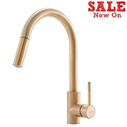 Comllen Best Quality Commercial Brushed Gold Kitchen Faucet ...