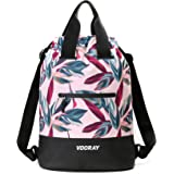 Vooray 23L Ultra-Durable Flex Cinch Gym Drawstring Backpack Sackpack for Women
