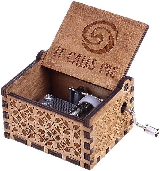 Everpert Caja de Música de Madera Tallada a Mano para Cumpleaños o ...