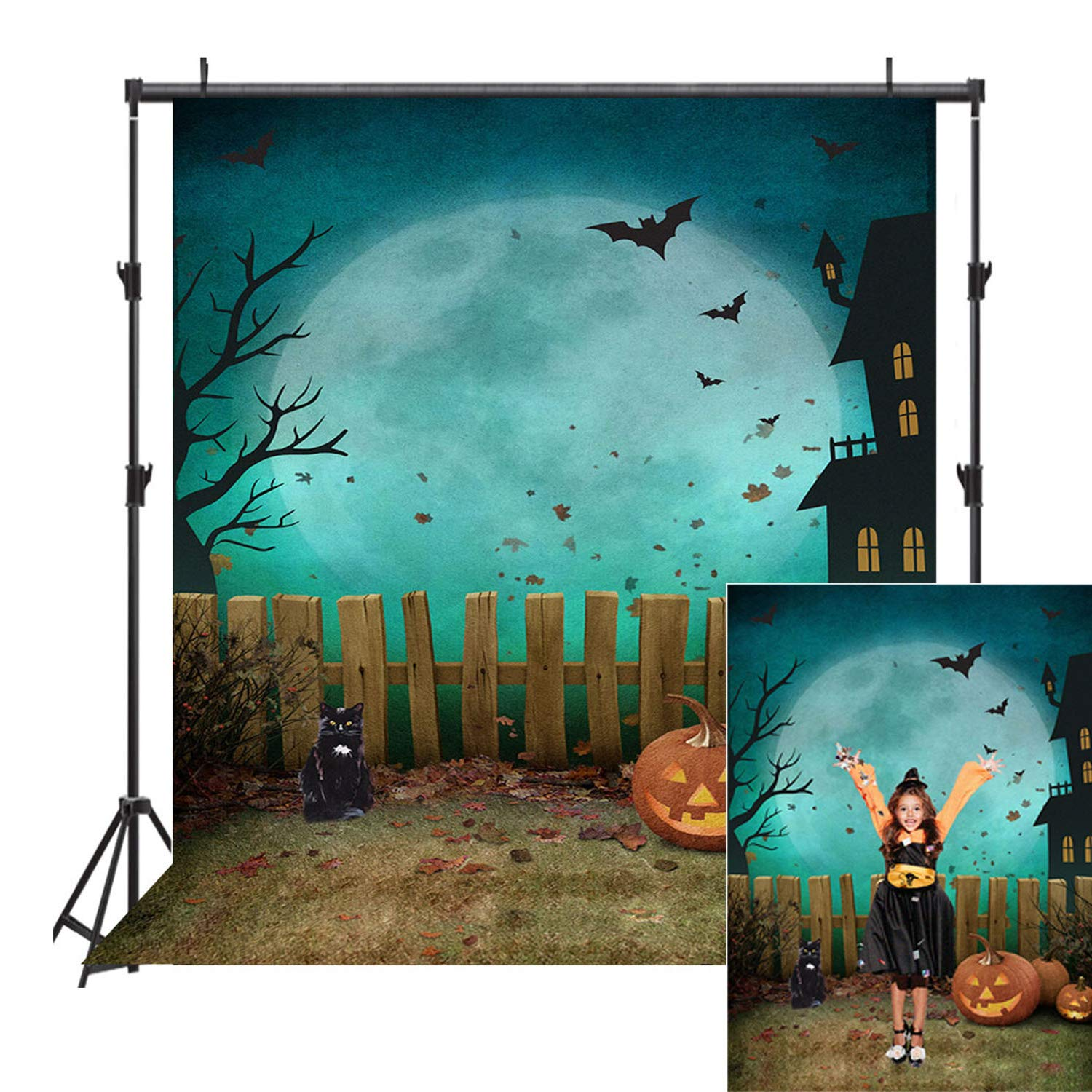 Allenjoy Halloween Theme Backdrop 5x7ft Kid Pumpkin Nightmare Party Photography Background Children Baby Shower Decoration Photography Photo Booth Prop Halloween Decorations Decor Backdrop by Maijoeyy