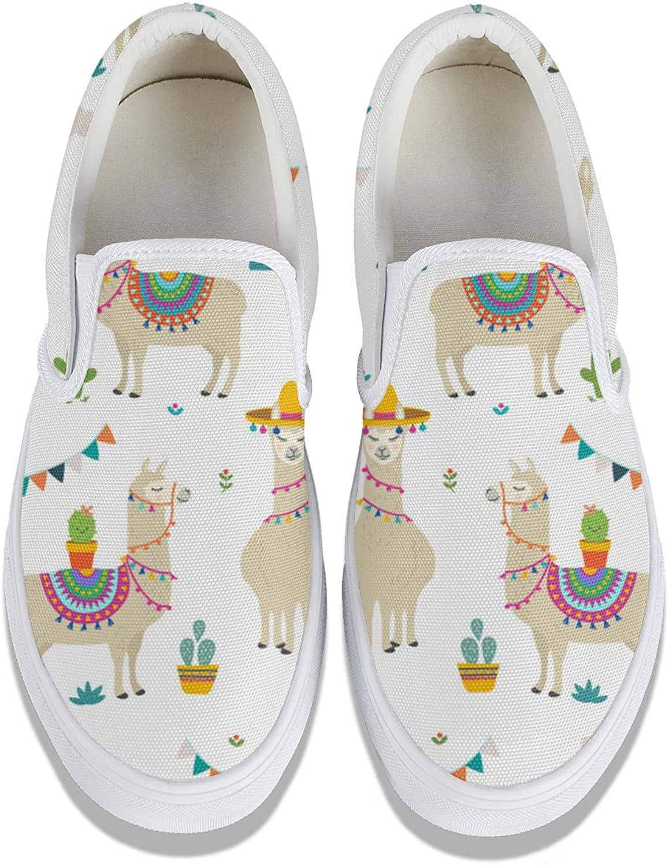 BABYYEE Women Watercolor Flower Pattern Canvas Shoes Graphic Slip-on Sneakers Low Top Shoe