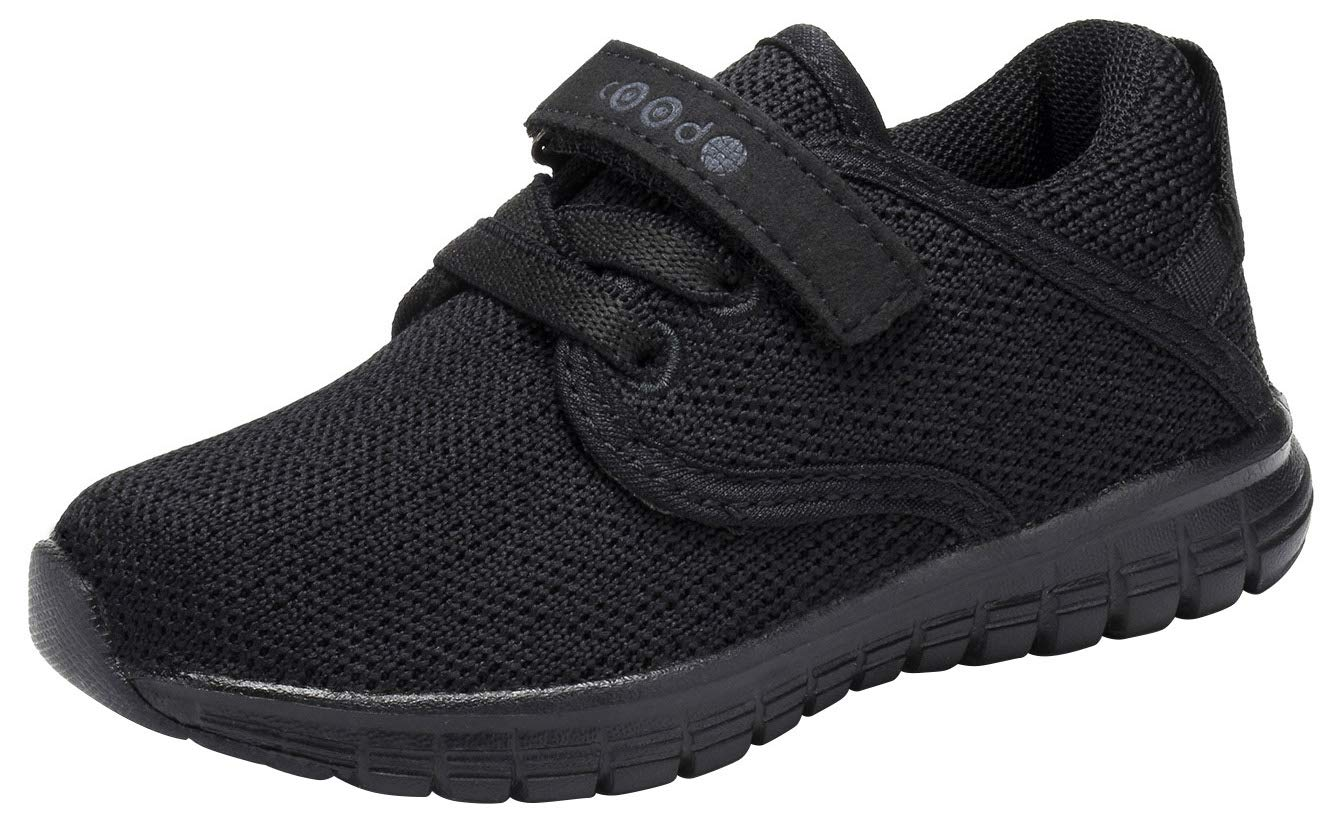COODO CD3001 Toddler's Lightweight Sneakers Boys Girls Casual Running Shoes All Black-9