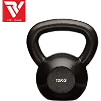 RV Powder Coated Solid Cast Iron Kettlebell Weights (Weight 12KG)